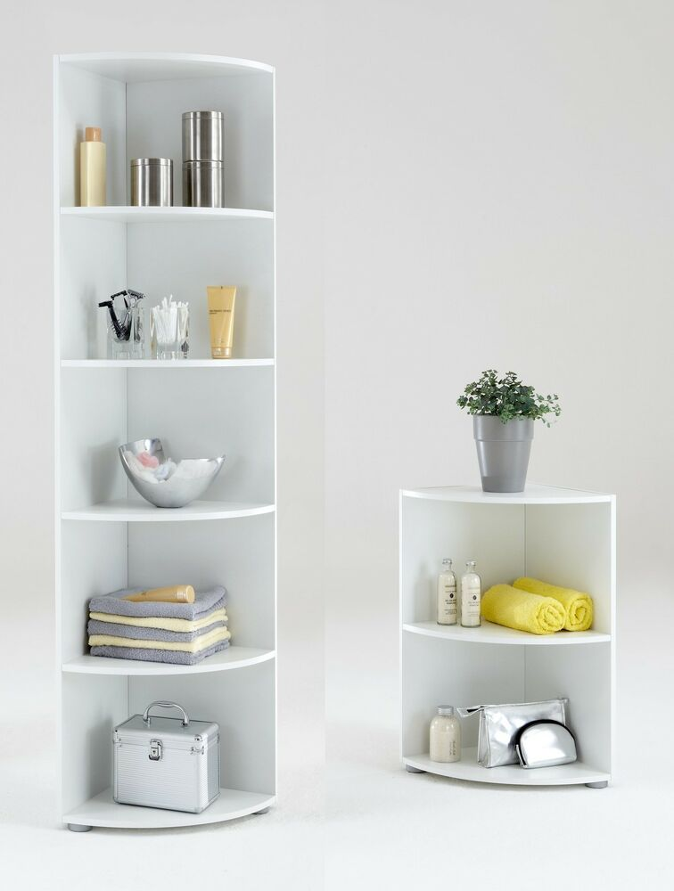 Big eck wee eck bathroom kitchen corner shelf white - White bathroom corner shelf unit ...
