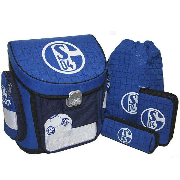 fc schalke 04 fussball schulranzen set 4 teilig ebay. Black Bedroom Furniture Sets. Home Design Ideas
