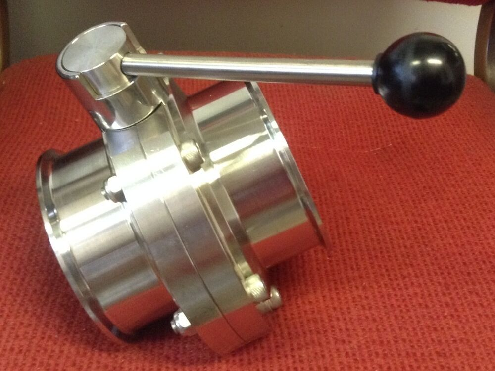Tri clover quot stainless steel butterfly valve