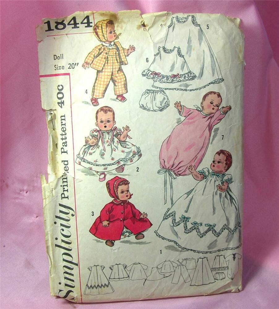 Vtg 1956 simplicity doll clothes pattern betsy wetsy amp tiny tears 20