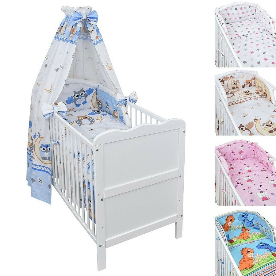 babybett kinderbett juniorbett wei 140x70 bettset neu ebay. Black Bedroom Furniture Sets. Home Design Ideas