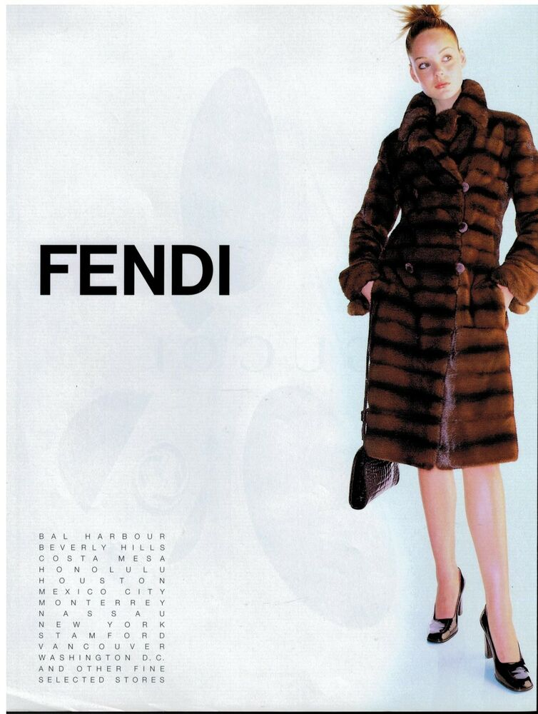 1996 FENDI FURS FASHION Magazine PRINT AD