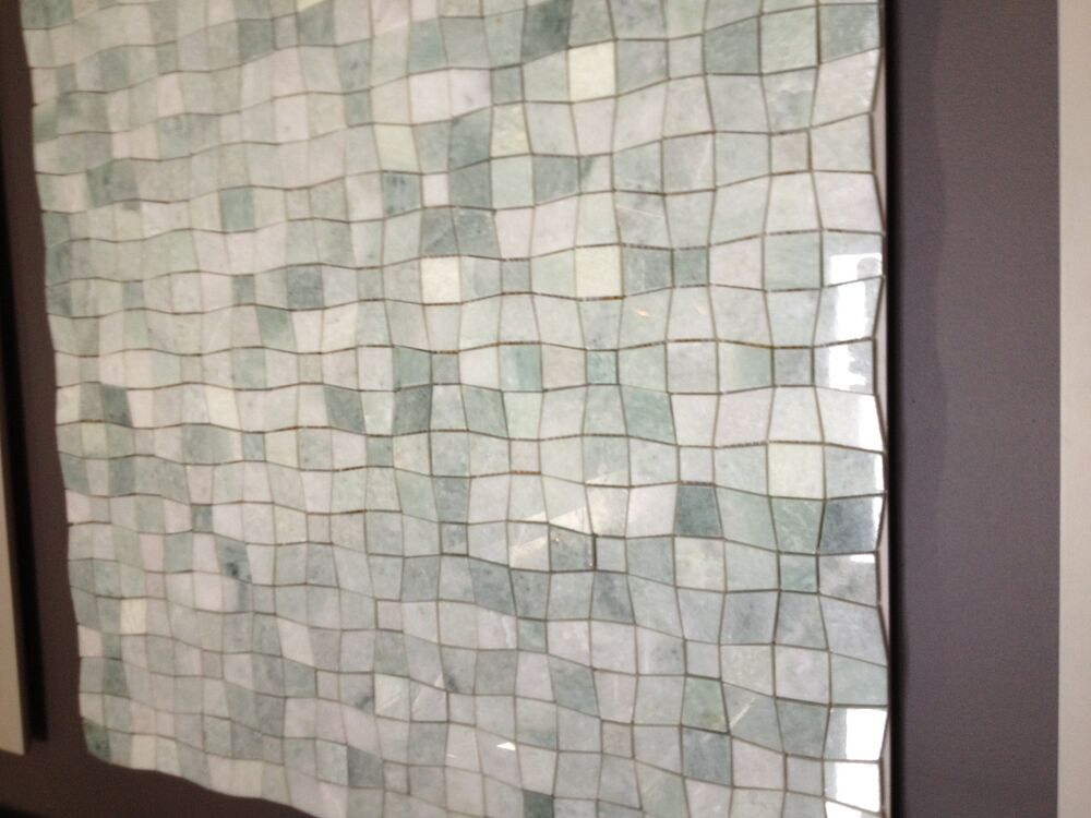 Marble Ming Green Illusion Mosaic Polished Tile Ebay