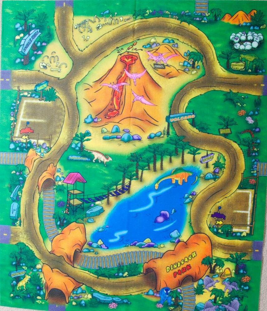 Dinosaur Floor Play Mat Felt Game Top Seller Childrens Mat Themed Toy Preschool Ebay