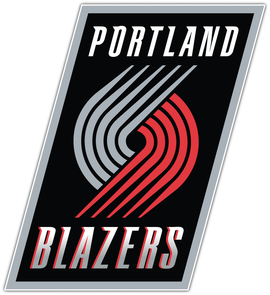 Portland Trail Blazers Basketball: Portland Trail Blazers NBA Basketball Bumper Window Laptop