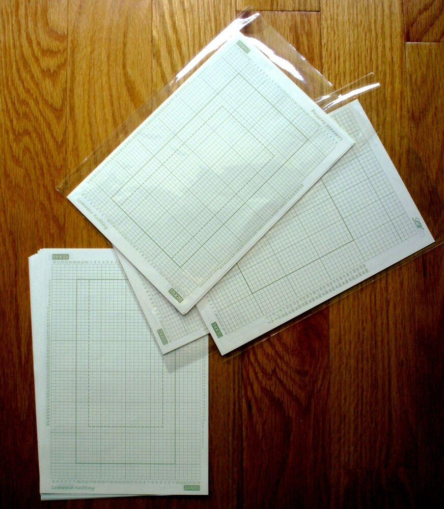 Knitting Graph Paper Uk : Grid paper for stitch pattern punch card knitting