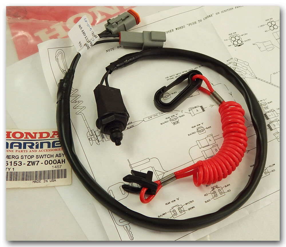 Honda Boat Outboard Emergency Stop Switch Assy 36153