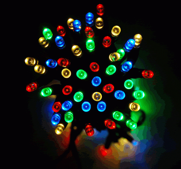 New Set 100 LED Colour Changing Solar Fairy Lights Luxform Outdoor Christmas