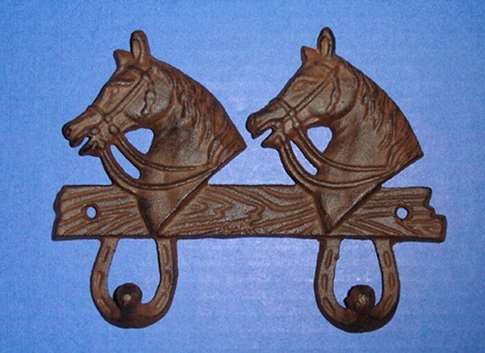 Western Decor Wall Hooks : Western decor tack double horse s wall hooks