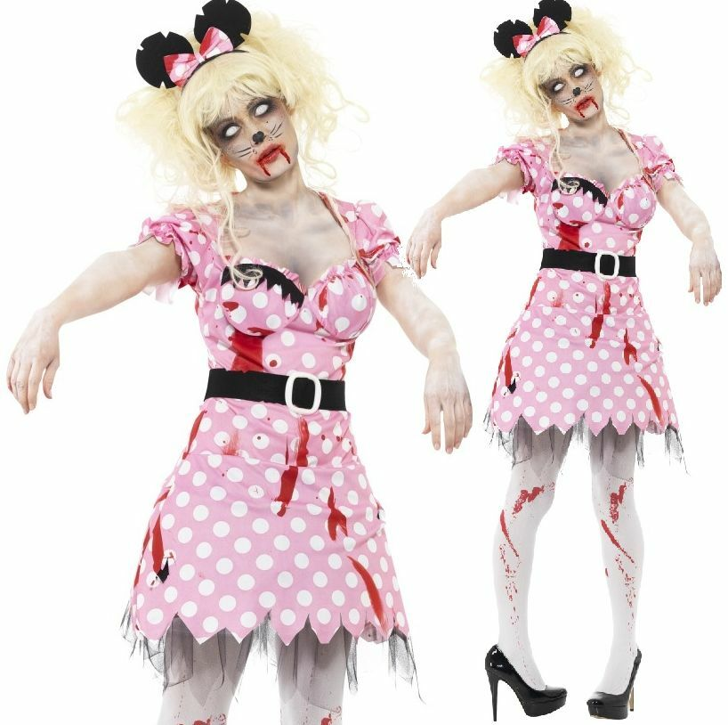 Ladies Zombie Minnie Mouse Cartoon Dead Corpse Halloween Fancy Dress Costume | eBay  sc 1 st  eBay & Ladies Zombie Minnie Mouse Cartoon Dead Corpse Halloween Fancy Dress ...