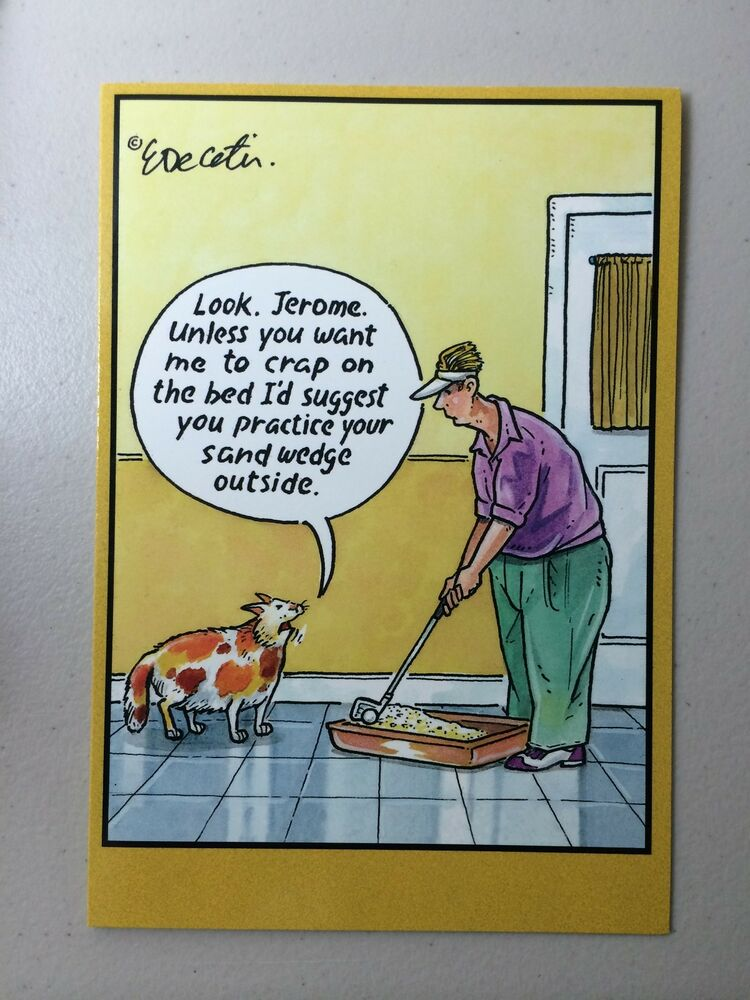 humorous birthday cartoons eric decetis card cards greeting party