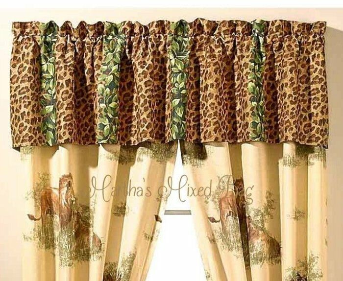 Expensive Classic animal print window treatments Amazing Various