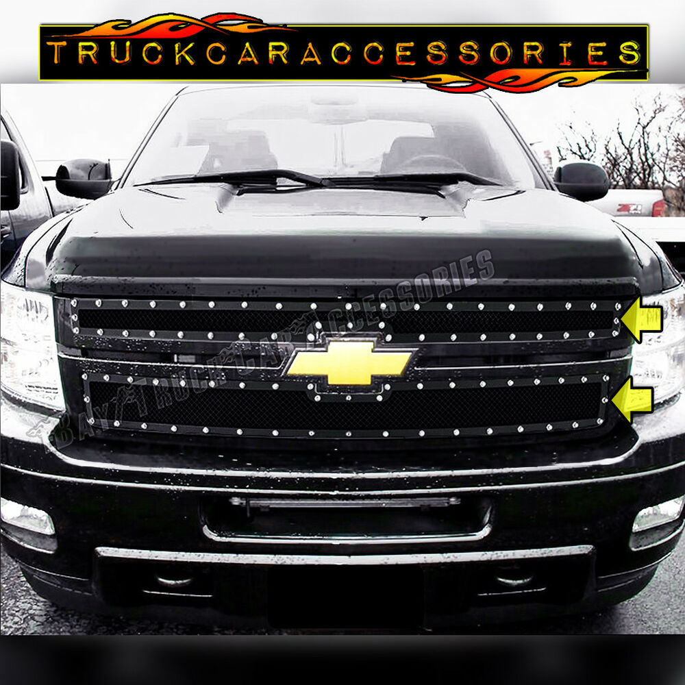 2011 12 13 Chevy Silverado 2500 3500 HD Black Mesh Rivet