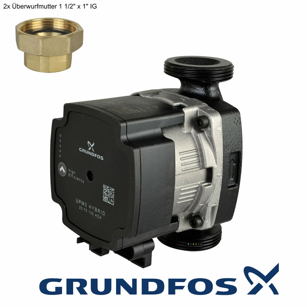 grundfos hocheffizienz pumpe umw lzpumpe ups2 25 40 60 min7 max48w 130mm kugelha ebay. Black Bedroom Furniture Sets. Home Design Ideas