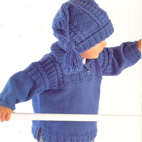 Knitting Pattern Hat Dk : Knitting Pattern-Childs Over Tunic & Hat pattern in DK ...