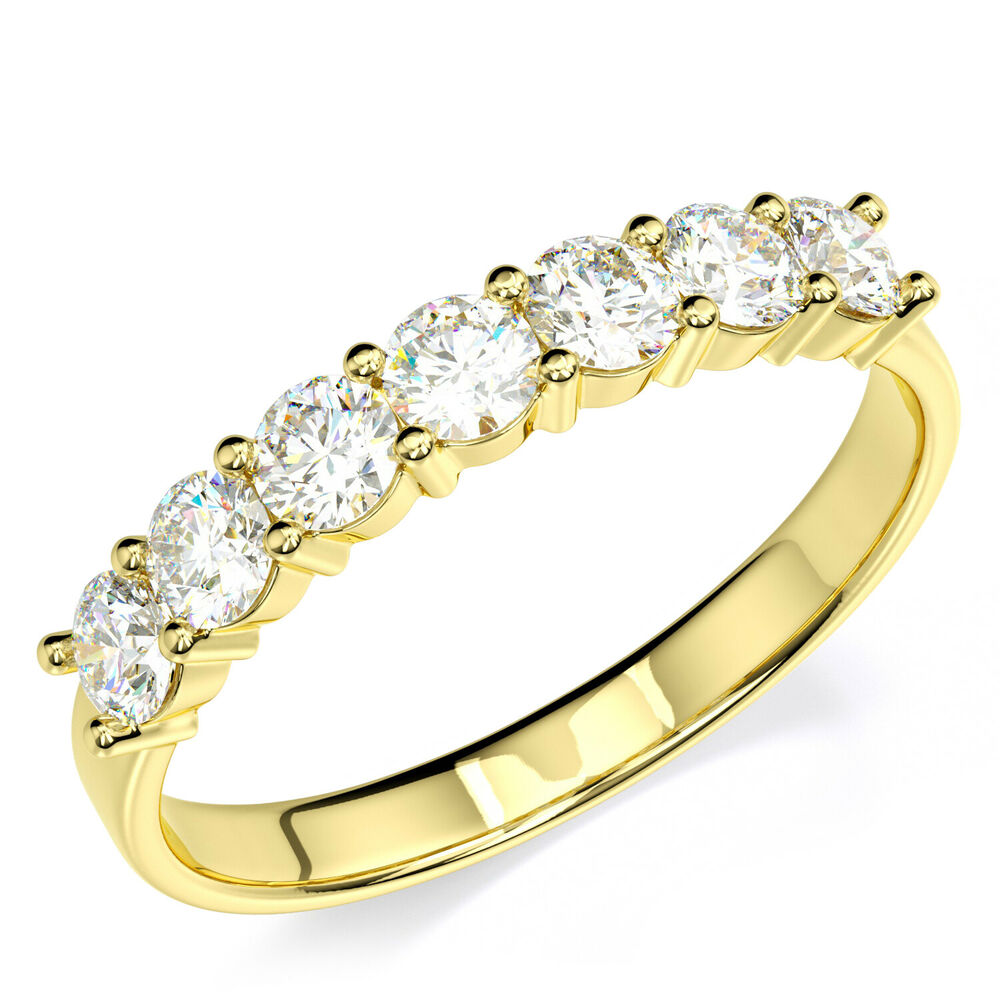 14k solid yellow gold cz cubic zirconia anniversary ring. Black Bedroom Furniture Sets. Home Design Ideas