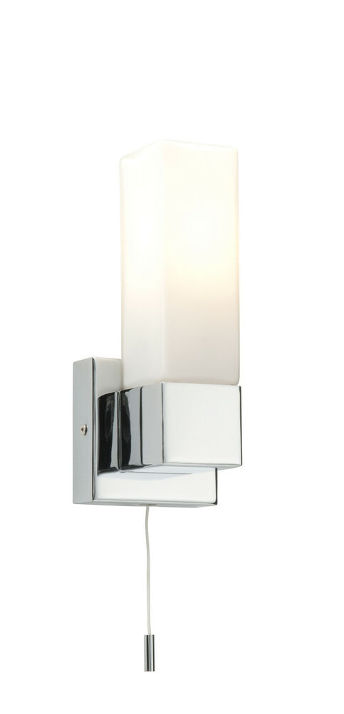 square bathroom lights saxby square single bathroom wall light pull cord switch 14537 | s l1000