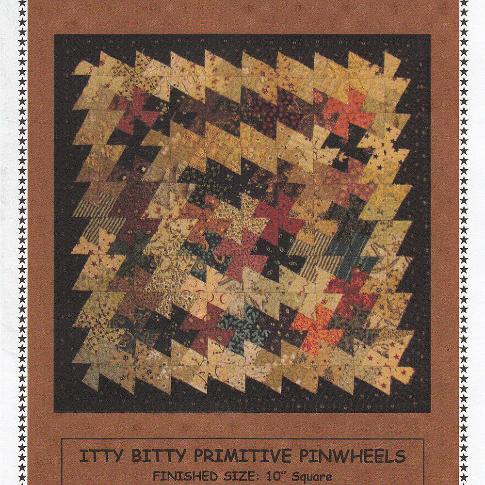 Free Twisted Pinwheel Quilt Pattern : ITTY BITTY PRIMITIVE GATHERINGS PINWHEELS QUILT PATTERN + 1.5 Inch Twister Tool eBay