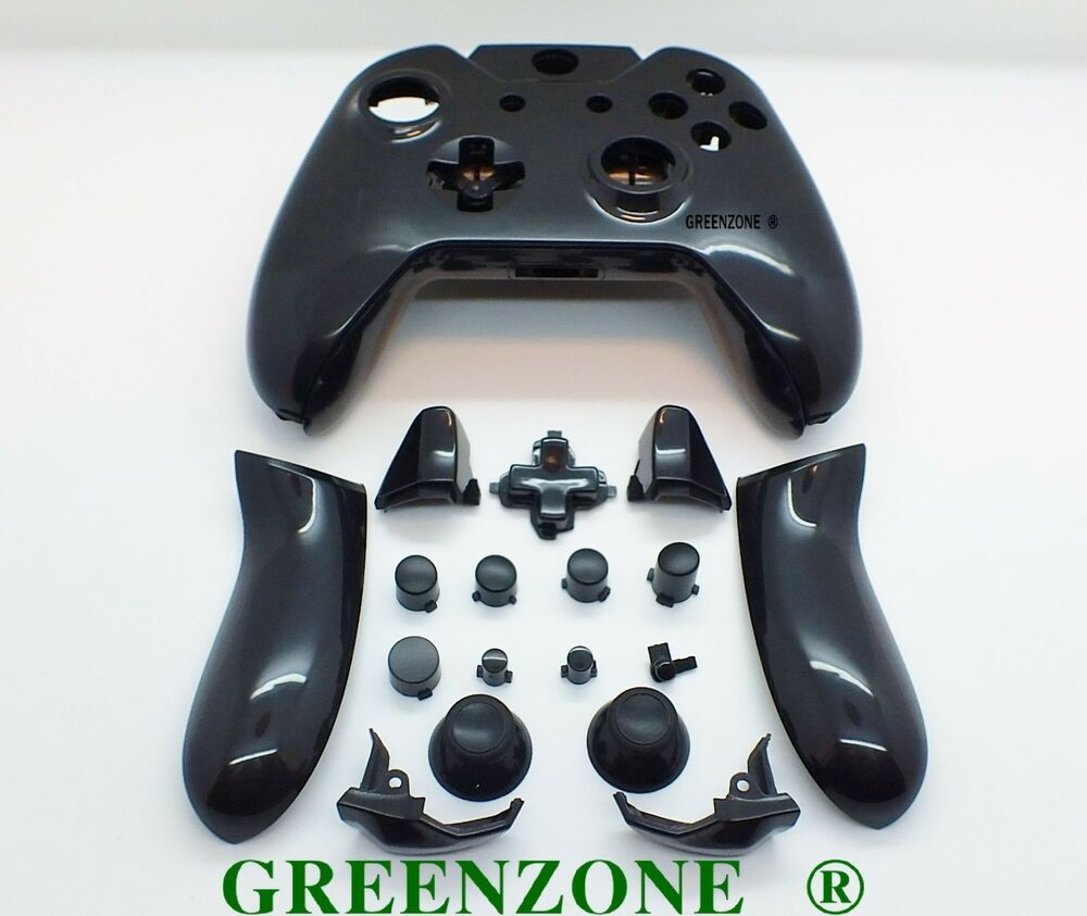 Black Solid Xbox One Custom Controller Full Replacement ...