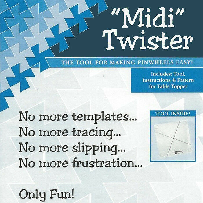 midi twister tool template pinwheels instructions table topper quilt pattern ebay. Black Bedroom Furniture Sets. Home Design Ideas