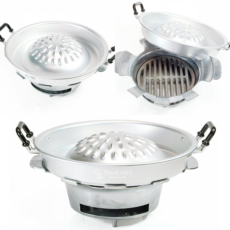 Thai korean steak meat beef pan table top charcoal barbecue bbq grill set 12 ebay - Table top barbecue grill ...