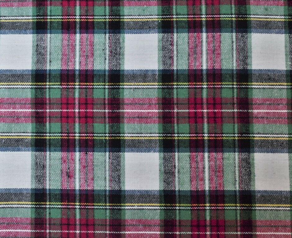 Cotton Flannel Plaid Tartan Fabric By The Yard 1 60 Quot W
