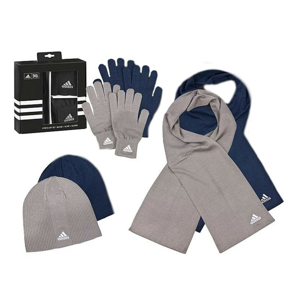 adidas herren winter set strick handschuhe m tze. Black Bedroom Furniture Sets. Home Design Ideas