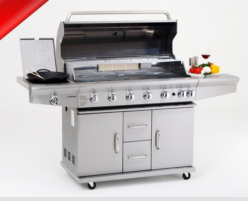 xxl profi edelstahl grillstation gasgrill gas grill partygrill backburner kocher ebay