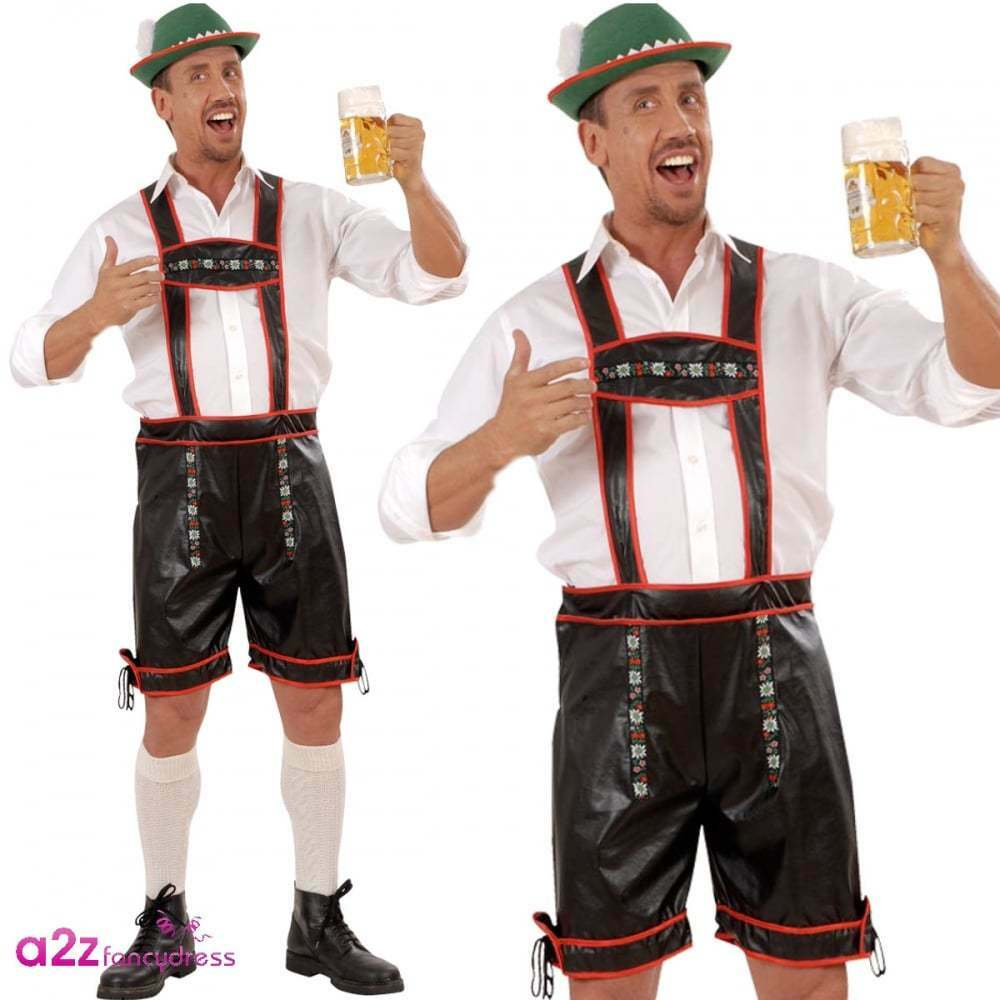 Mens Adult Oktoberfest Black Lederhosen - 70.6KB