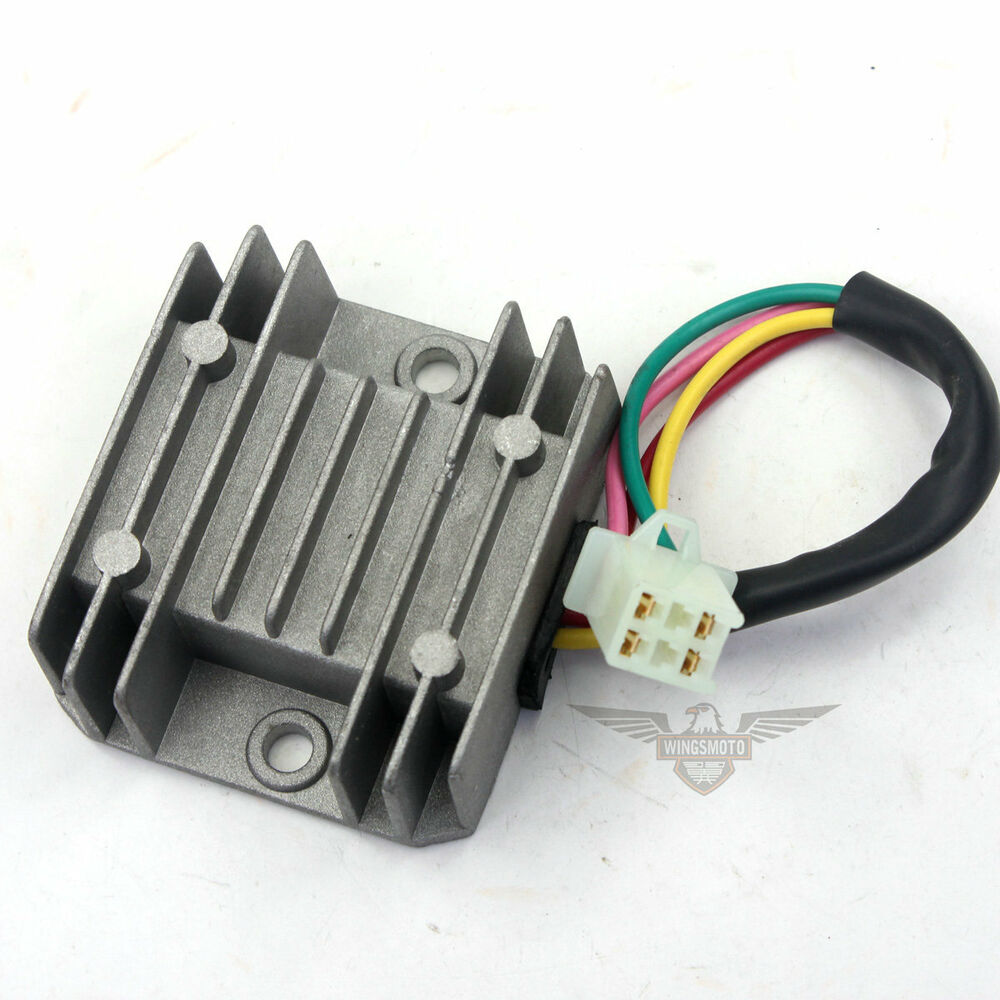 4 wire voltage regulator rectifier atv gy6 50 150cc. Black Bedroom Furniture Sets. Home Design Ideas