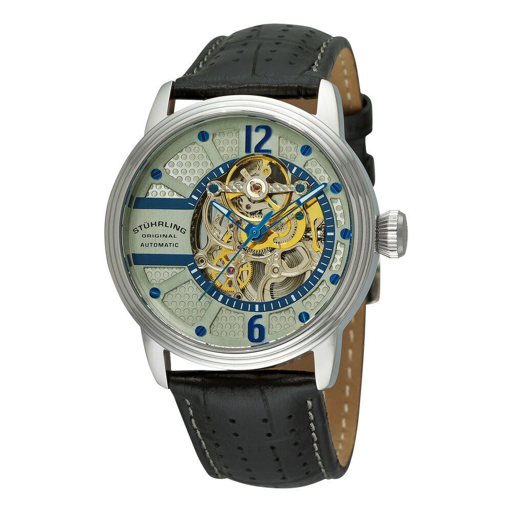 stuhrling 308a 331592 men 39 s prospero classic automatic skeleton dial watch ebay