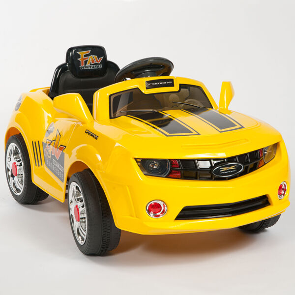 Kids Yellow Camaro Style Ride On RC Car Remote Control ...