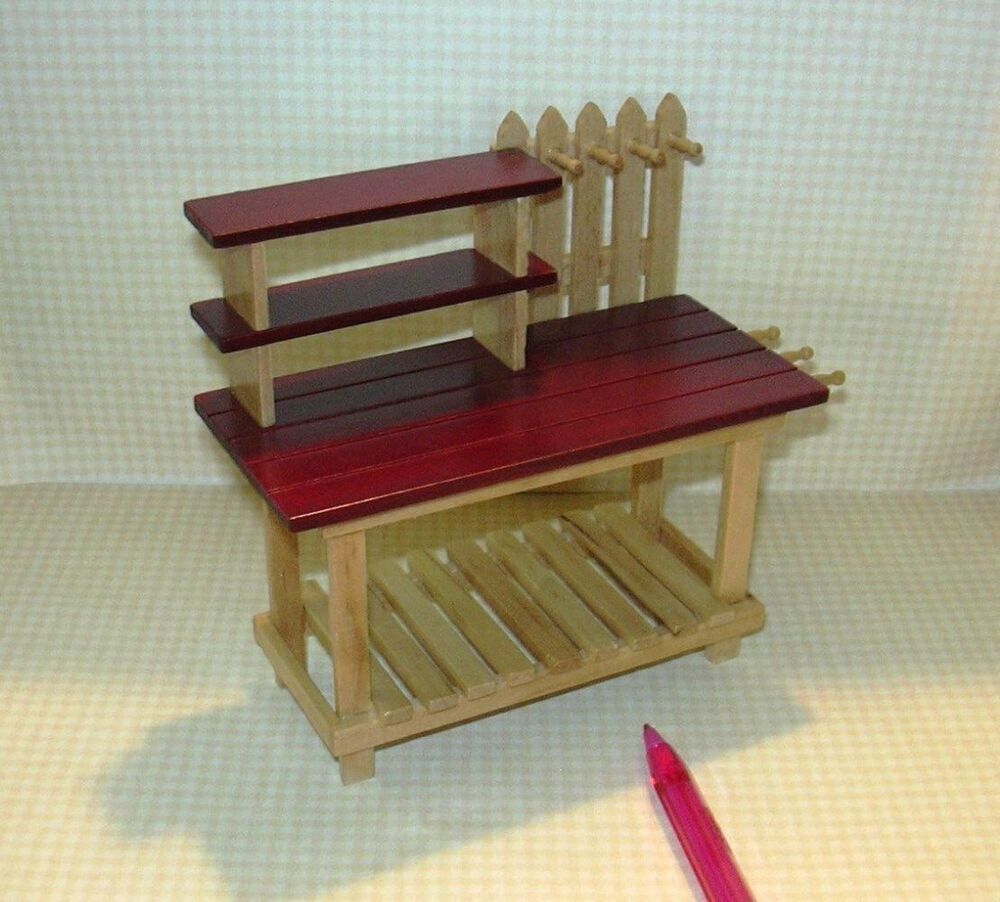 Miniature The BEST Potting Table! DOLLHOUSE Miniatures 1