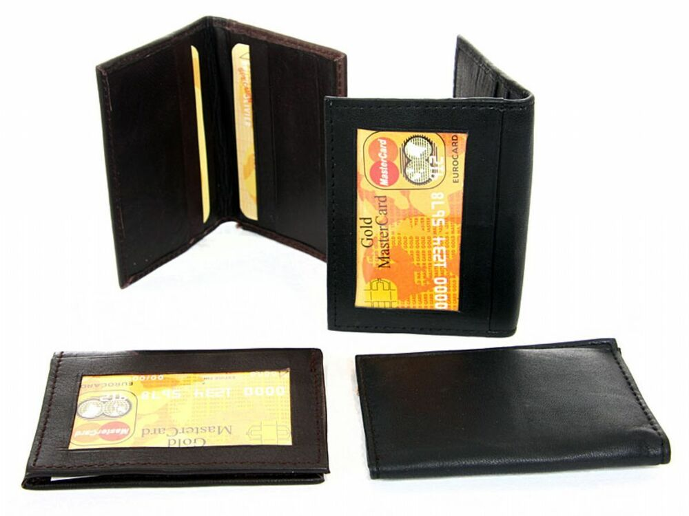 Leather Credit Card & ID Holder Slim Design Men's Wallet ...