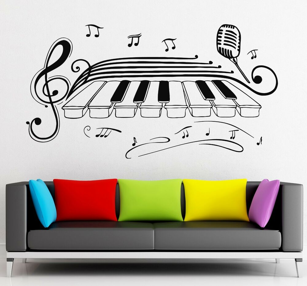 Wall Stickers Vinyl Decal Classical Music Piano Jazz Blues