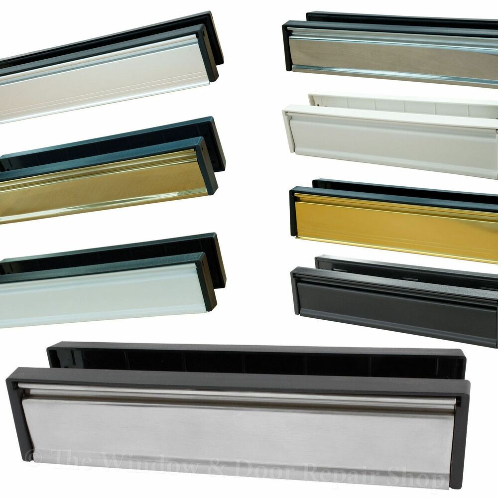 10 12 inch letter box plate set upvc double glazing for Upvc french doors with letterbox