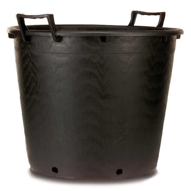 extra large heavy duty plastic plant pot with handles 65 litre x 5