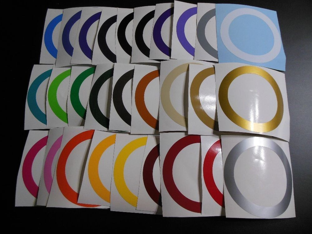 3 4 quot inch wide circle border decal sticker for