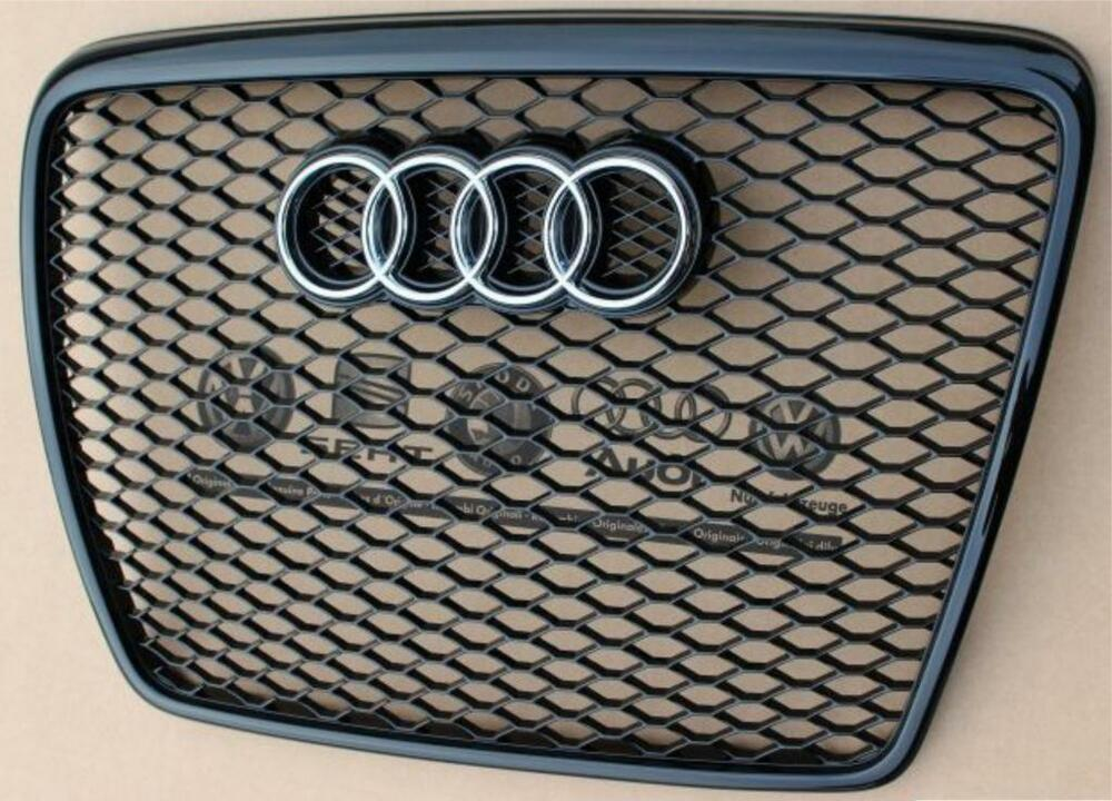 audi a6 rs6 grill piano black a6 s6 c6 4f 2004 2011 ebay. Black Bedroom Furniture Sets. Home Design Ideas