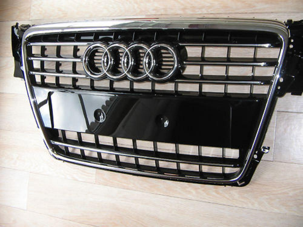 audi a4 b8 original s line s4 front grille chrome grill. Black Bedroom Furniture Sets. Home Design Ideas