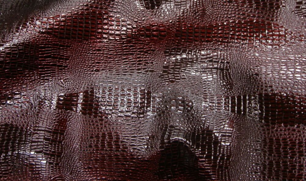 vinyl Faux Leather upholstery vinyl Reptile Skin Cherry ...