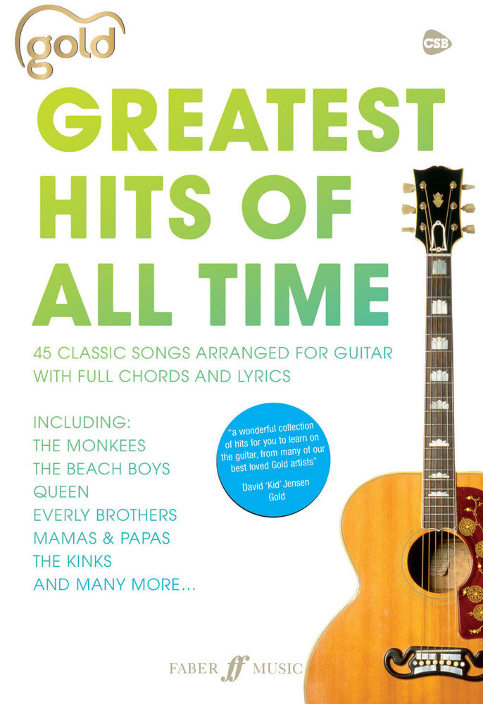 Gold Greatest Hits Of All Time Pop Guitar Chords Voice Songs Faber