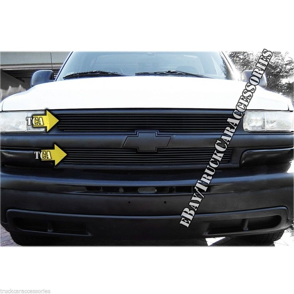 for chevy 1999 2002 silverado 1500 2000 2006 suburban tahoe black grille 2pc ebay