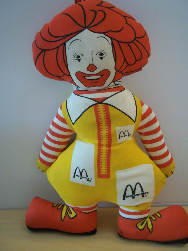 vintage ronald mcdonald character advertising cloth doll