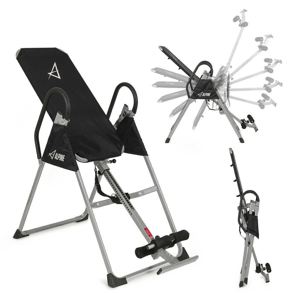 Deluxe Inversion Table Fitness Chiropractic Table Back