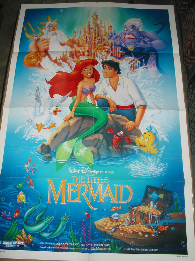 Amazoncom The Little Mermaid Movie Poster 27 x 40