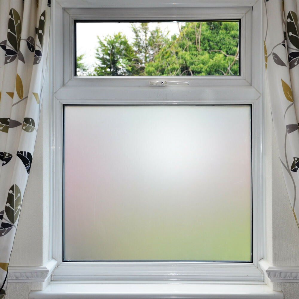 Privacy White Frosted Window Film Frost Etched Glass