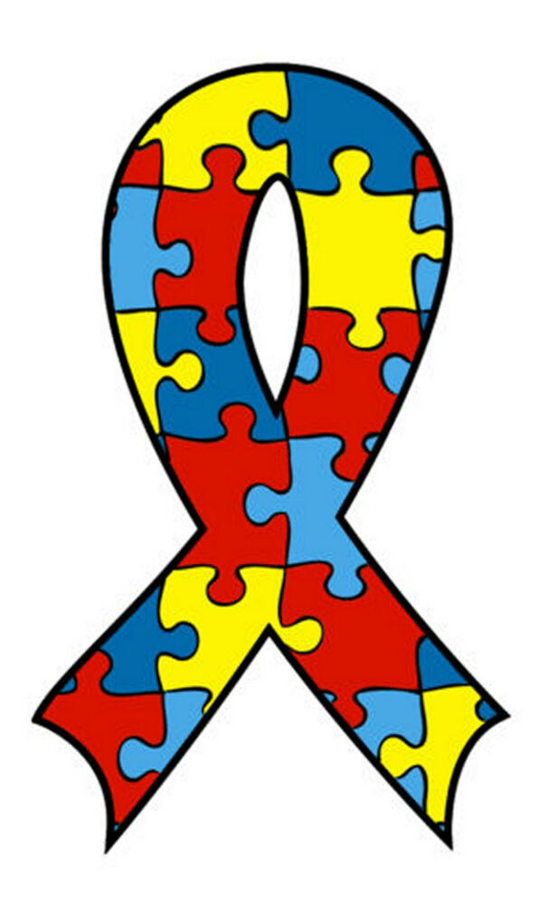 lot 12 autism awareness ribbon puzzle piece temporary jigsaw puzzle clipart free jigsaw puzzle border clipart