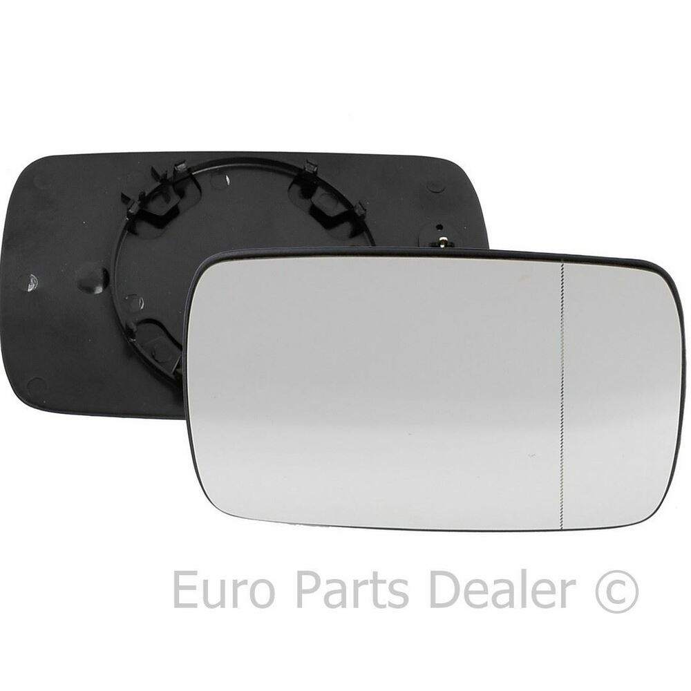 Driver side wide angle heated wing door mirror glass bmw 3 for Large door mirror