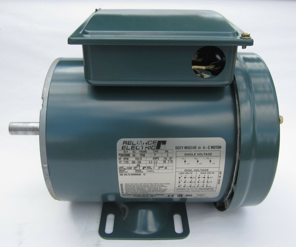 Baldor reliance electric motor p56h5068g 1 2 hp 1725 rpm for 2 rpm electric motor